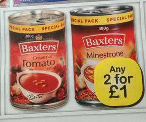 Baxters soups 2 for £1 Farmfoods