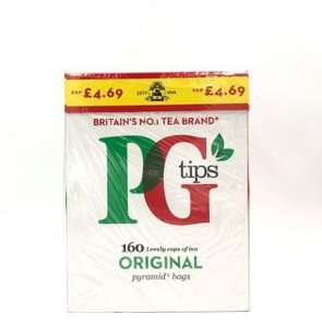 PG Tips 160 Pyramid Tea Bags £1.99 @ Poundstretcher In store