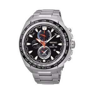 Seiko - Gents Prospex Stainless Steel World Timer Bracelet Watch, £215 from Debenhams