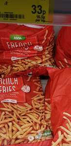 2KG French Fries 33p at Asda instore (Warrington)