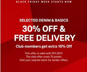 Black Friday Week starts on H&M - 30% OFF on selected Denims and Free Delivery