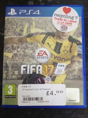 FIFA 17 PS4 Preowned £4 at CEX instore