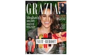 Grazia 12 month subscription via Groupon £39.20 using 20% off local deals code Code CSN3L7FU. 77p per mag!