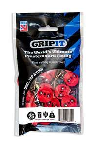 18mm Pack of 25 Grip it plasterboard fixings £6.99 Prime exclusive @ amazon