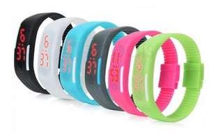 LED Digital Bracelet Watch for Men Women £0.76 Free P&P @ Zapals