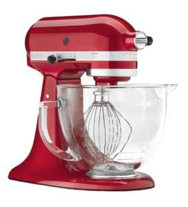 Black Friday Deal Steamer Trading KitchenAid Artisan 156 4.8L Mixer with Glass Bowl - Candy Apple £279 @ Steamer