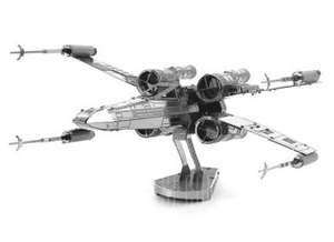 X-wing Warplane Metal 3D Puzzle  -  SILVER only 61p delivered using code @ Gearbest