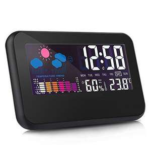 Loskii DC-002 Digital Weather Station Thermometer Hygrometer Alarm Clock with Colorful LED Display Smart Sound Control Calendar Backlight Function £5.40 del with code @ Banggood