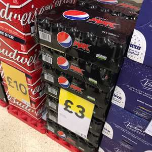 24 Pack Pepsi Max Cans £3 @ Tesco