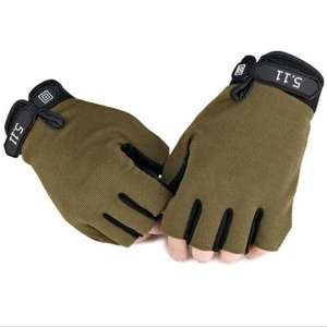 Half-finger Adjustable Breathable Sports Gloves - M ARMY GREEN for 57p delivered using code @ Gearbest