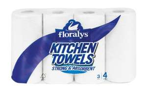Floralys Kitchen Towels (4 rolls) 99p @ Lidl THIS WEEKEND SPECIAL