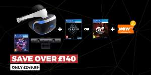 PSVR Bundle (Headset + Camera + Skyrim VR/Gran Turismo + NowTV Pass) £249.99 Instore/Online @ GAME