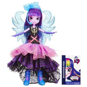My Little Pony Equestrias - Rainbow Rocks Twilight Sparkle Doll / My Little Pony Equestia- Rainbow Rocks Pinkie Pie Doll was £25.00 now £12.50 Plus Free Click and Collect @ The Entertainer @ Tesco