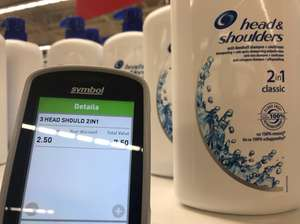 1 litre Head & Shoulders 2-in-1 £2.50  Asda