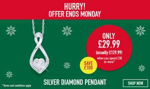 Get this diamond necklace worth £129.99 for £29.99 when you spend £30 at Hsamuel