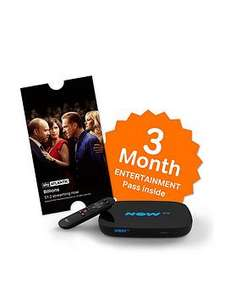 Now TV Smart box (not the old Now TV box) with 3 months entertainment voucher AND sky store voucher at Very for £24.99