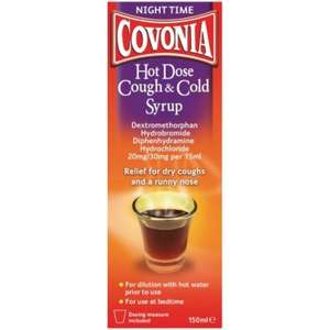 Covonia Hot Dose Cough & Cold Syrup 150ml £7.58 delivered @ Chemist.net