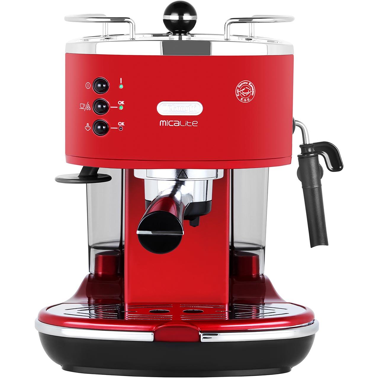 De'Longhi Icona Micalite Espresso Coffee Machine - Red £99 @ AO