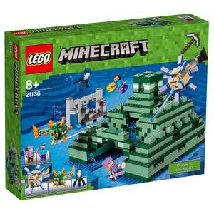 LEGO Minecraft The Ocean Monument (21136) + FREE 4 Pack of Mini-Figures worth £14.99 - £67.99 @ Toys R Us (When you Click & Collect)