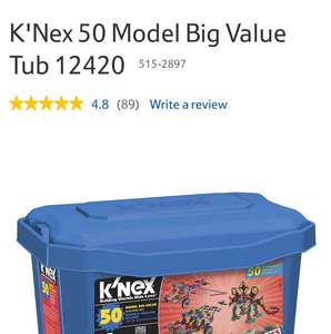 K'Nex 50 Model Big Value Tub 12420 @ Tescodirect was £30 now £15