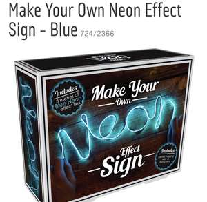 Make Your Own Neon Effect Sign - Blue @ Argos was£14.99 now £7.99