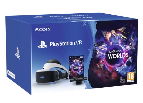 Sony PlayStation VR (PSVR) + Camera + VR Worlds + Gran Turismo Sport or Skyrim & Farpoint £249.85 @ ShopTo