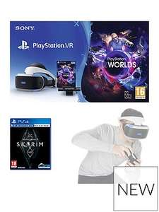 PSVR +Camera + Vr worlds + Skyrim or GT Sport + Move Controllers Twin Pack £299 @ Very