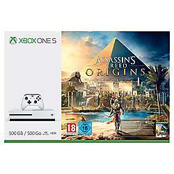 Xbox One S 500GB Console With Assassins Creed: Origins, Star Wars Battlefront 2 & 3 Months Xbox Live Gold £199.99 (229.99 For 1TB) @ Tesco Direct (Also Comes With 1 Month Game Pass)