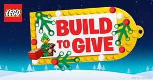 LEGO event #BuildToGive build and display, and free small Lego set to take home Glasgow & Milton Keynes