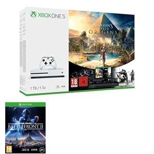 Xbox One S 1TB Console: Assassin's Creed Origins + Star Wars Battlefront 2 at Amazon for £229.99