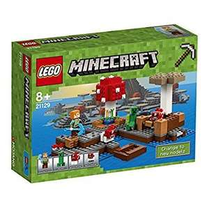 "Lego Minecraft 21129 ""The Mushroom Island"" at Amazon for £13.81 Prime (£15.90 non Prime)"