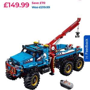 LEGO Technic 6x6 All Terrain Tow Truck (42070) at Toys r Us for £120