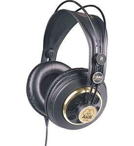AKG K240 STUDIO Professional Semi-Open, Over-Ear Studio Headphones £56.00 Dispatched from and sold by Amazon
