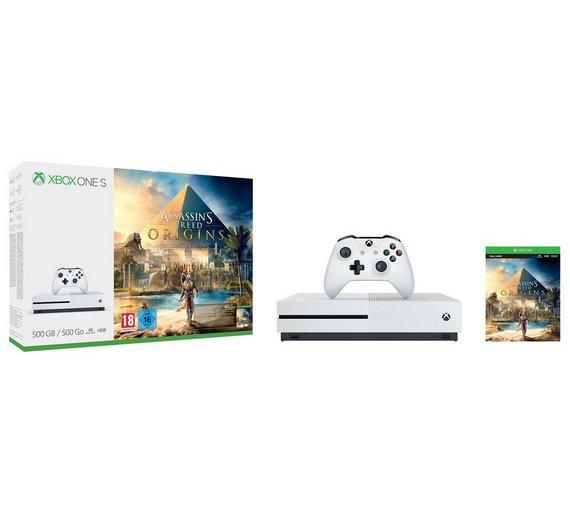 Xbox One S 500GB Assassin's Creed Bundle + Forza 7 + Star Wars Battlefront II £219.99 @ Argos (£15 voucher through vouchercodes)