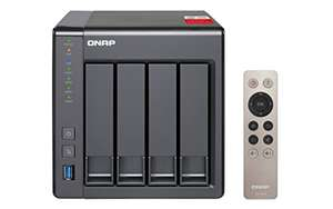 QNAP TS-451+-2G 4 Bay Desktop NAS Enclosure with 2GB RAM - £301.24 @ Amazon