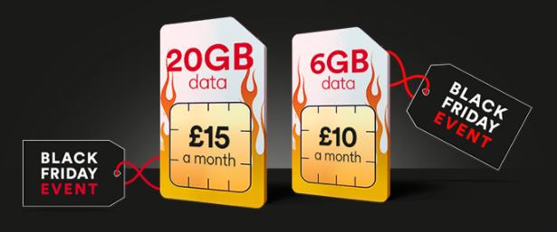 20GB 4G Data / 5000 Mins / Unltd Text  sim only 12 month £15pm - 6GB also £10/month  @  Virgin Media