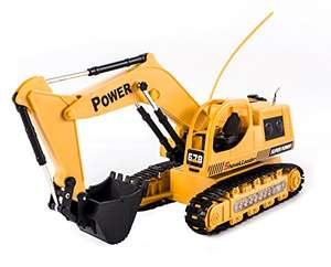 R/C High Tech Power Excavator Digger Truck With Flash Crawler - £12.96 Delivered @ Sold by deAO and Fulfilled by Amazon (Lightning Deal)