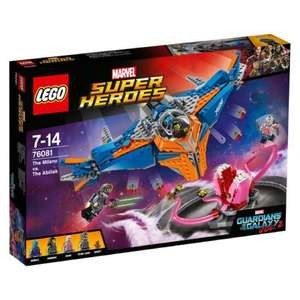 LEGO 76081 Guardians of The Galaxy Faceoff, Vol.2, The Milano vs Abilisk £27.61 from Amazon. RRP £44.99 (39% saving).