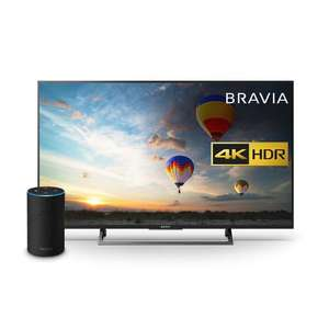 Sony Bravia KD49XE8004 49 inch TV 4K HDR, Black with All New Echo (2nd Generation) @ Amazon