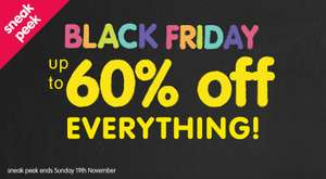 ELC Sneak Peak Black Friday up to 60% off Everything!