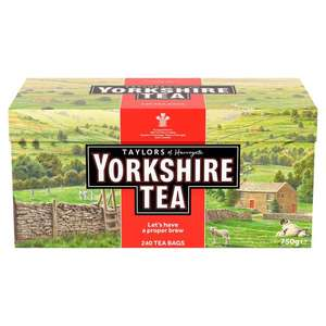 240 Yorkshire Teabags £4 @ Morrisons were £6.97. 750g
