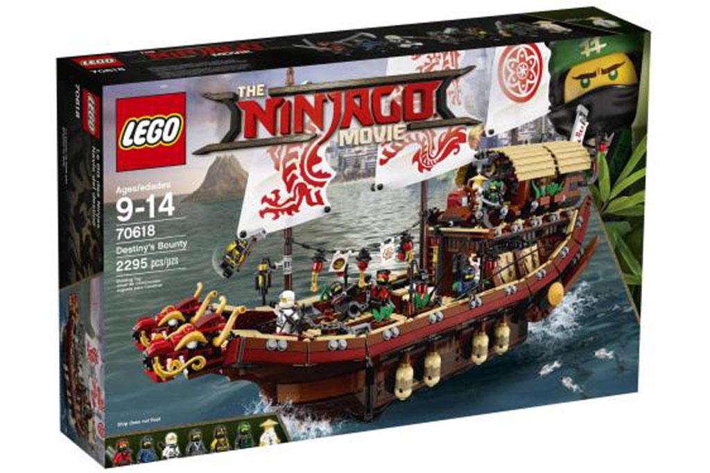 LEGO Ninjago Movie Destiny's Bounty - 70618 - £71.98 with voucher + Free 4 Pack of Mini-Figures @ Toys r us