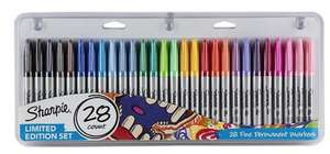 Sharpie Permanent Markers Assorted 28 pack £7.50 (also on 3 for 2) @ Tesco Direct
