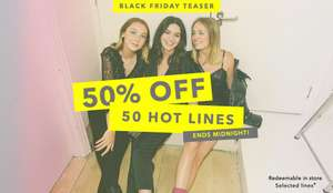50% off 50 items online at Miss Selfridge