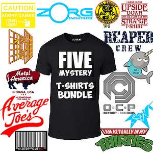 Mystery T-Shirts packs - 2x for £12, 3x for £15, 5x for £20 @ Game sold by RealityGlitch
