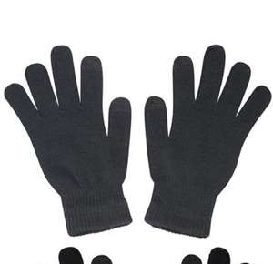 Magic Touchscreen Mens Gloves - 2Pk - Black Was £9.99 with code £3.99 free Delivery (expired) Free C&C Available Mountainwarehouse