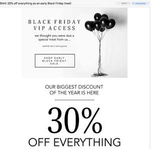 Abbott Lyon VIP Black Friday - 30% off Everything (Watches, Jewellery, Engraving) [Expires 20/11]
