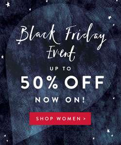 Black Friday event up to 50% off @ Joules