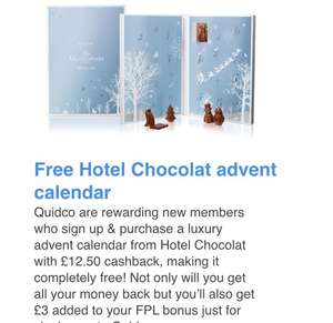Free Hotel Chocolat Advent Calendar With Quidco