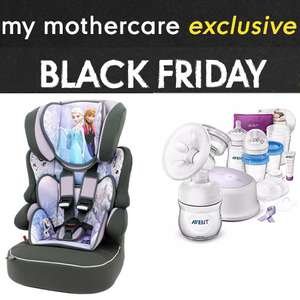 My Mothercare Members Black Friday Preview - E.G Disney Frozen Beline SP Highback Booster Car Seat £34.99 or Disney Cars booster seat £32.49 / upto 40% off Nursery Furniture / 25% Off Clothing (More in OP)
